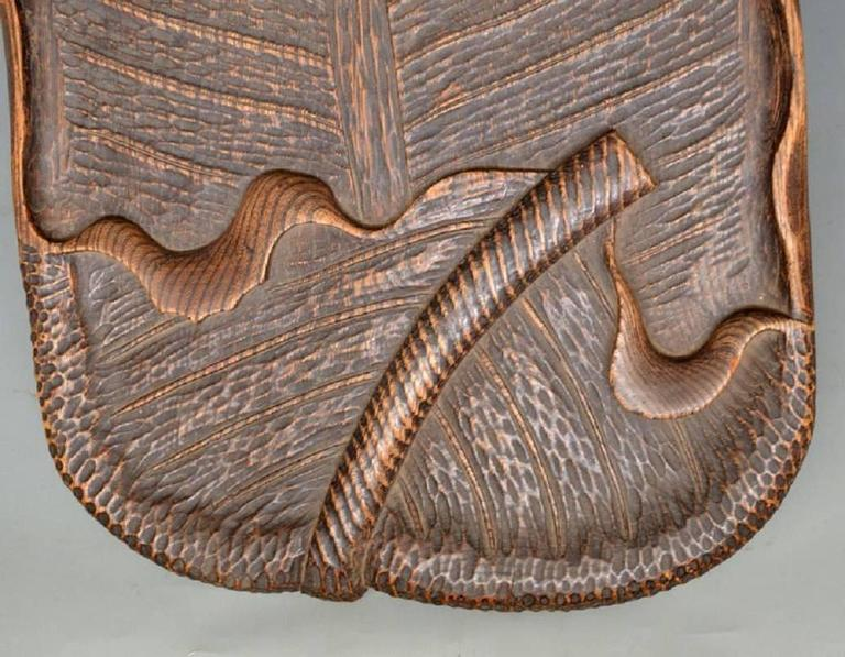 Japanese Serve In Style: Japan Antique Hand Carved Chestnut