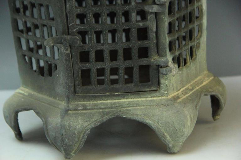 Japan Antique Bronze Lantern, Good Choice for Your Roof Top or Tea Garden 8