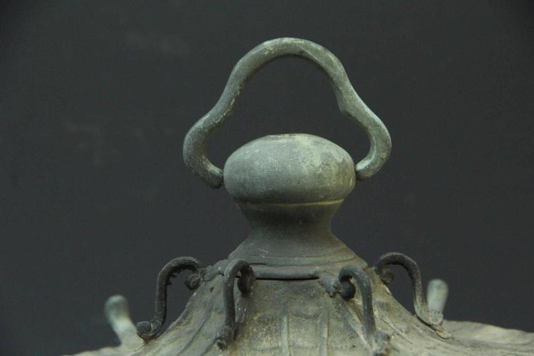 Japan Antique Bronze Lantern, Good Choice for Your Roof Top or Tea Garden 4