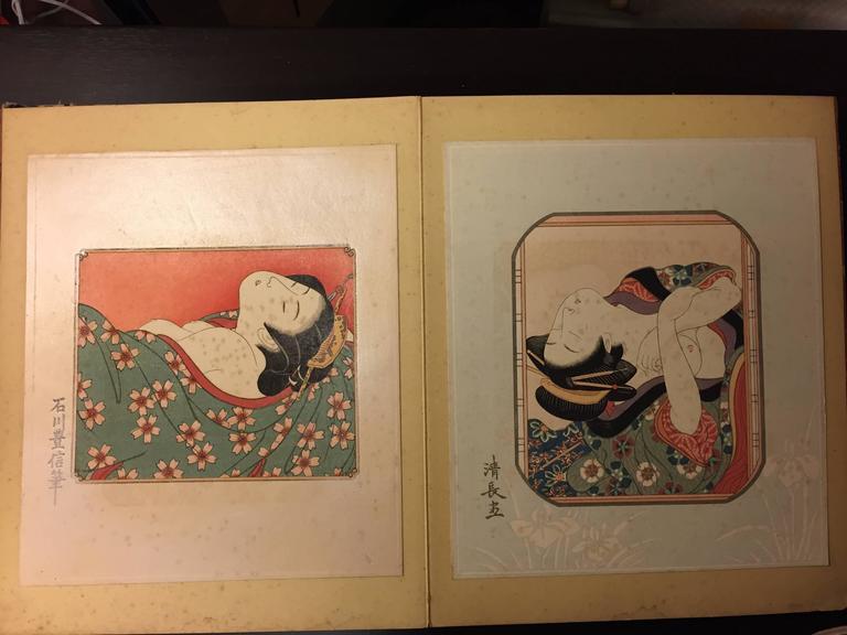 Japan Antique Album Erotic Women 38 Woodblock Prints, Easily Framable At 1Stdibs-6254
