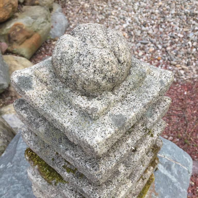 Antique Mystical Stone Pagoda, Hand-Carved Seven Tiers, Over 100 Yrs Old  For Sale 1