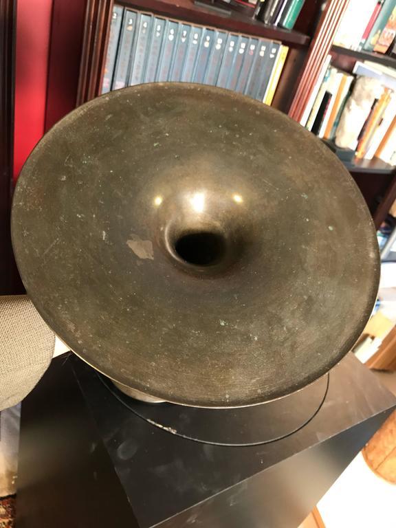 Hand-Crafted Japan Bronze Modernist Vase - Simple Design 13.75