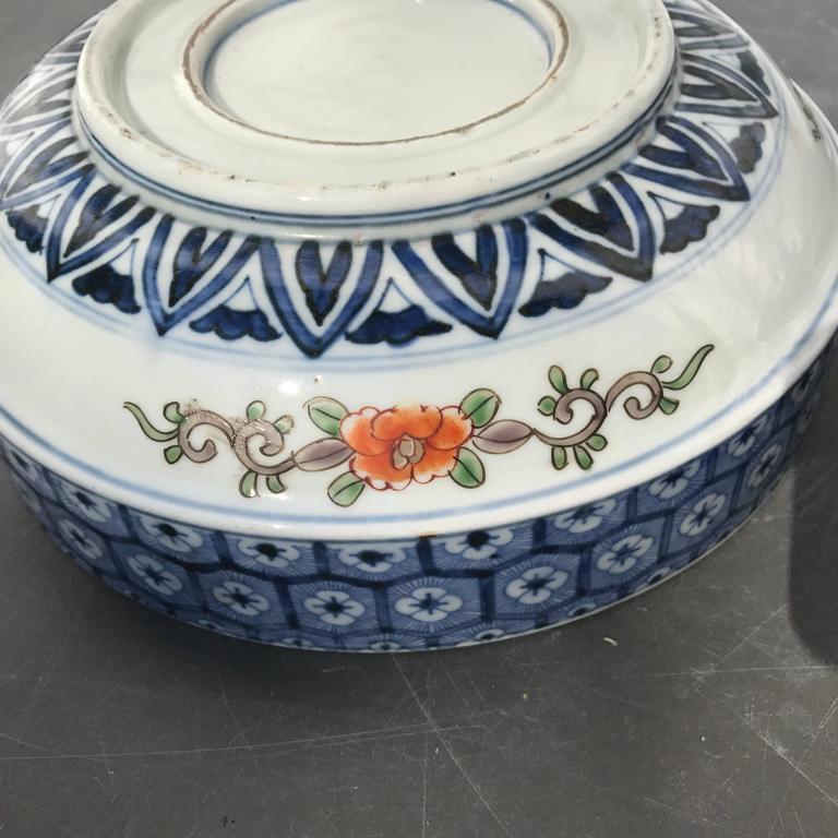 Japan Antique Set Of Three Hand Painted Koi Fish Bowls