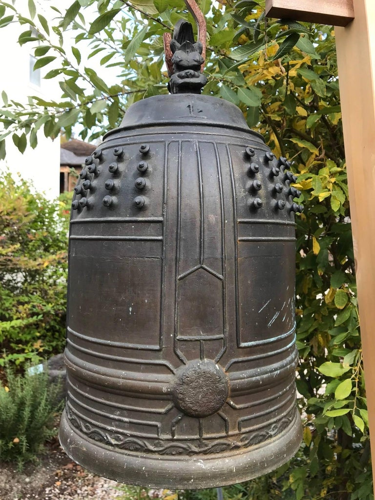 Japanese Old Hand Cast Bronze Temple Bell For Sale At 1stdibs