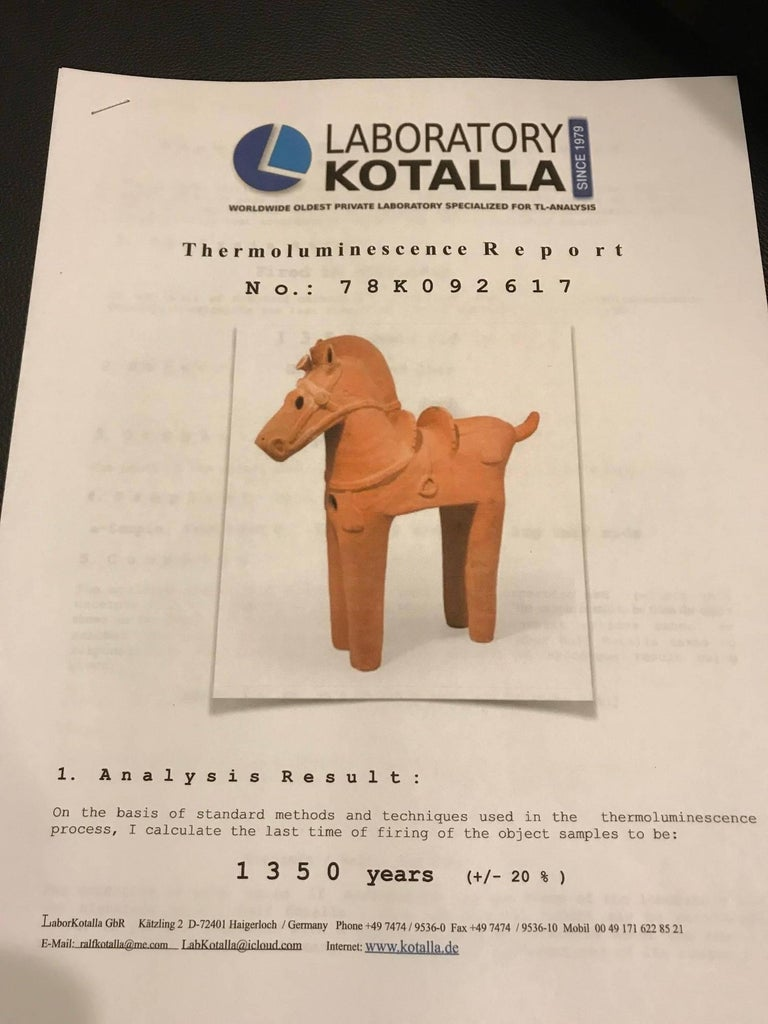 Important Large Ancient Japanese Tall Elite Horse, Kofun Period 593-710 AD For Sale 5