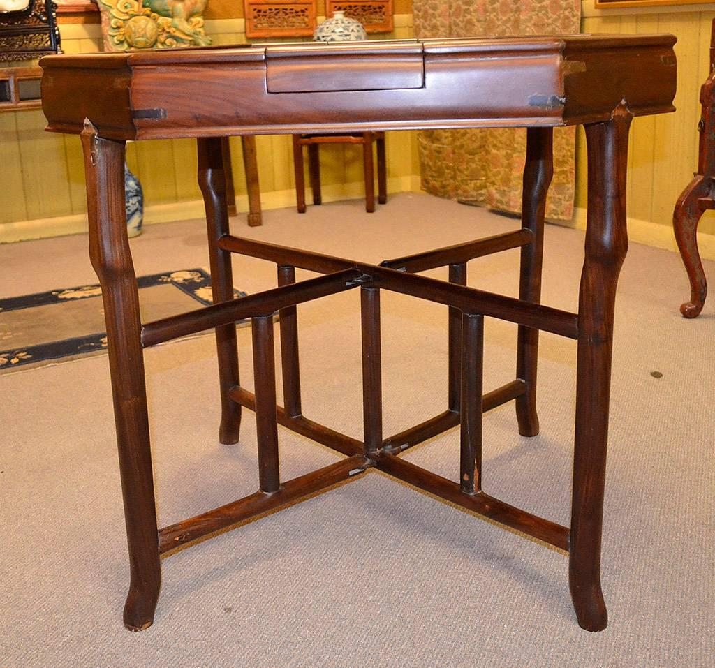 Chinese Antique Gaming Table With Vintage Game, Qing Dynasty, 19th Century  For Sale 1