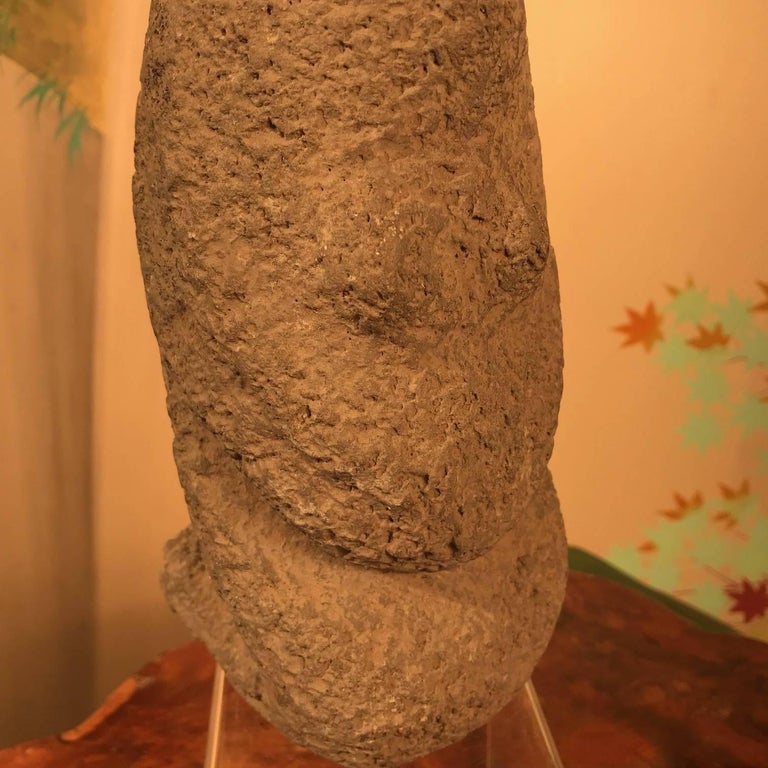 Hand-Crafted China Important Ancient Hongshan Culture Stone Female Sculpture, 4700-2900 BC For Sale