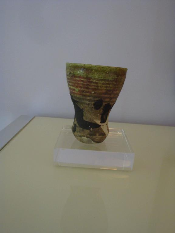 This is a Paul Soldner( 1921-2011) 1970s raku vessel