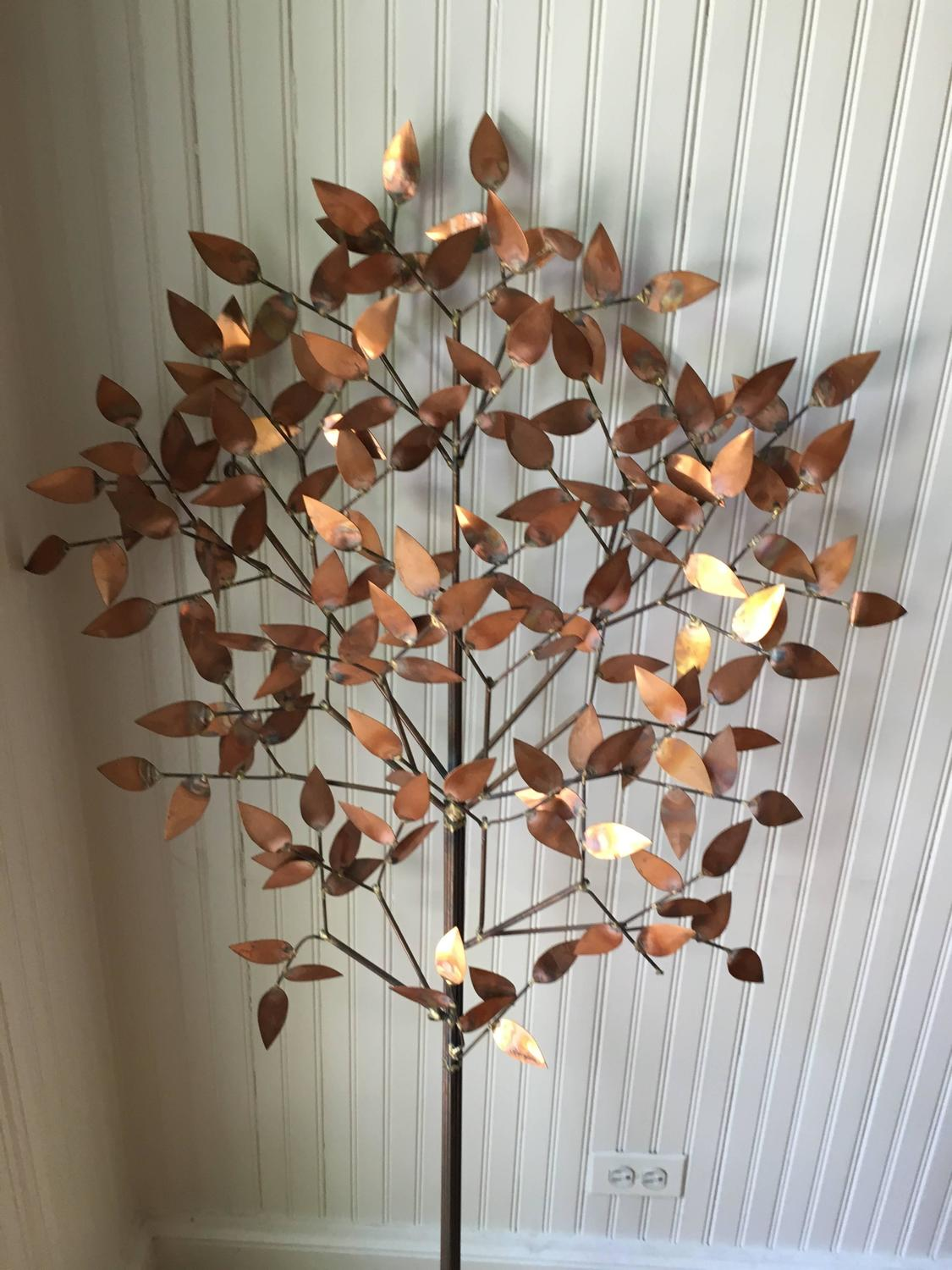 Curtis jere copper tree wall sculpture at 1stdibs for Copper wall art