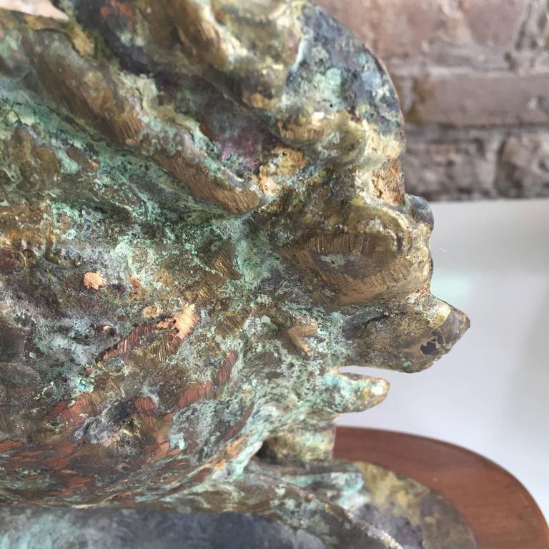American Brutalist Bronze Sculpture by Bill Lett For Sale
