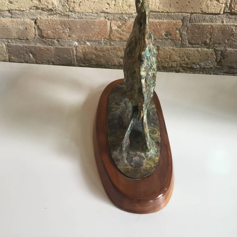 Brutalist Bronze Sculpture by Bill Lett In Excellent Condition For Sale In Chicago, IL