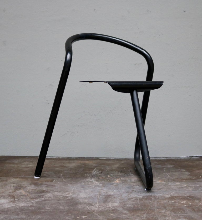 Two Aluminum Chairs from the 1970s by the Danish Designer Erik Magnussen In Excellent Condition For Sale In Copenhagen, DK