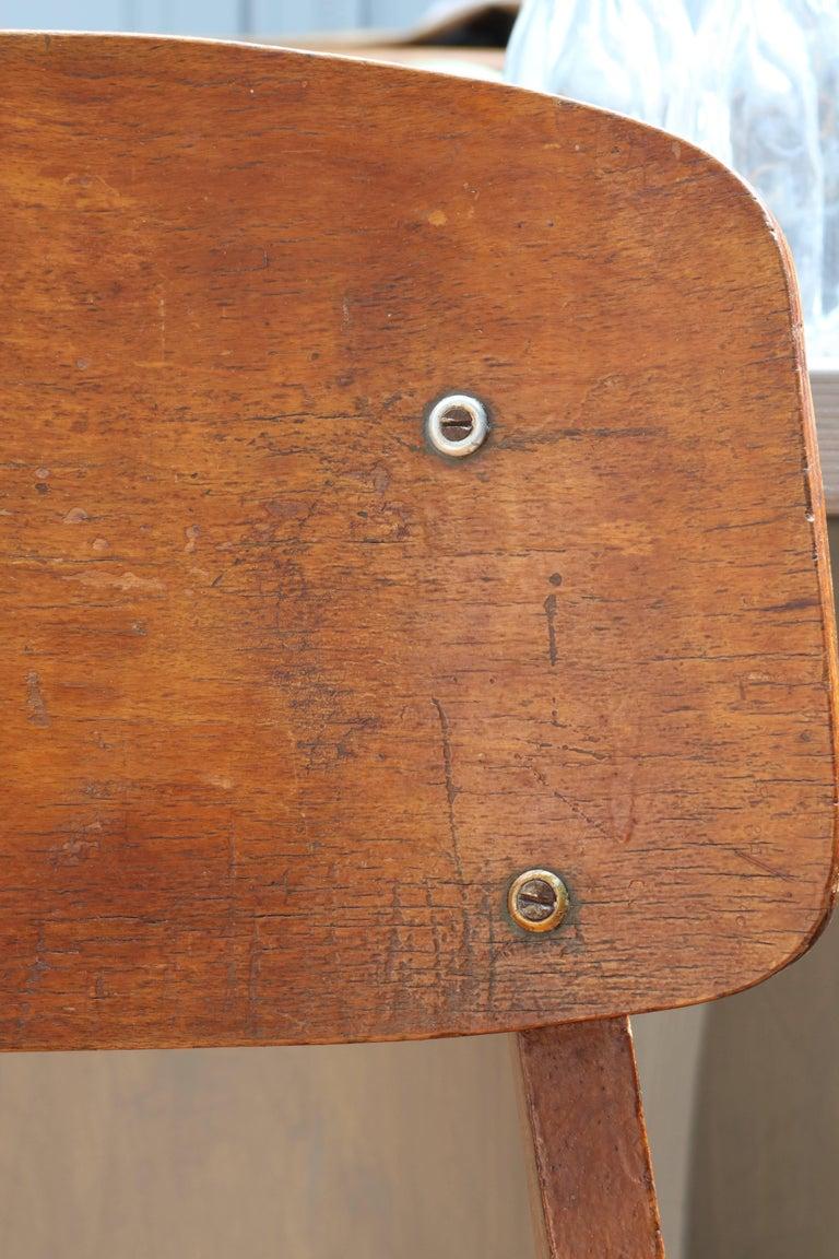Unique Midcentury Wooden Chair by Jean Prouvé For Sale 3