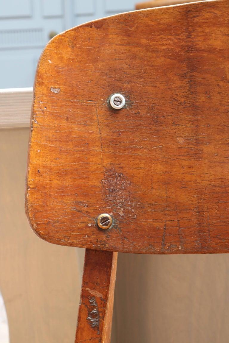 Unique Midcentury Wooden Chair by Jean Prouvé For Sale 2