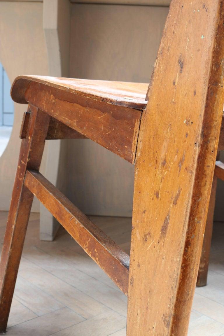 Unique Midcentury Wooden Chair by Jean Prouvé For Sale 8