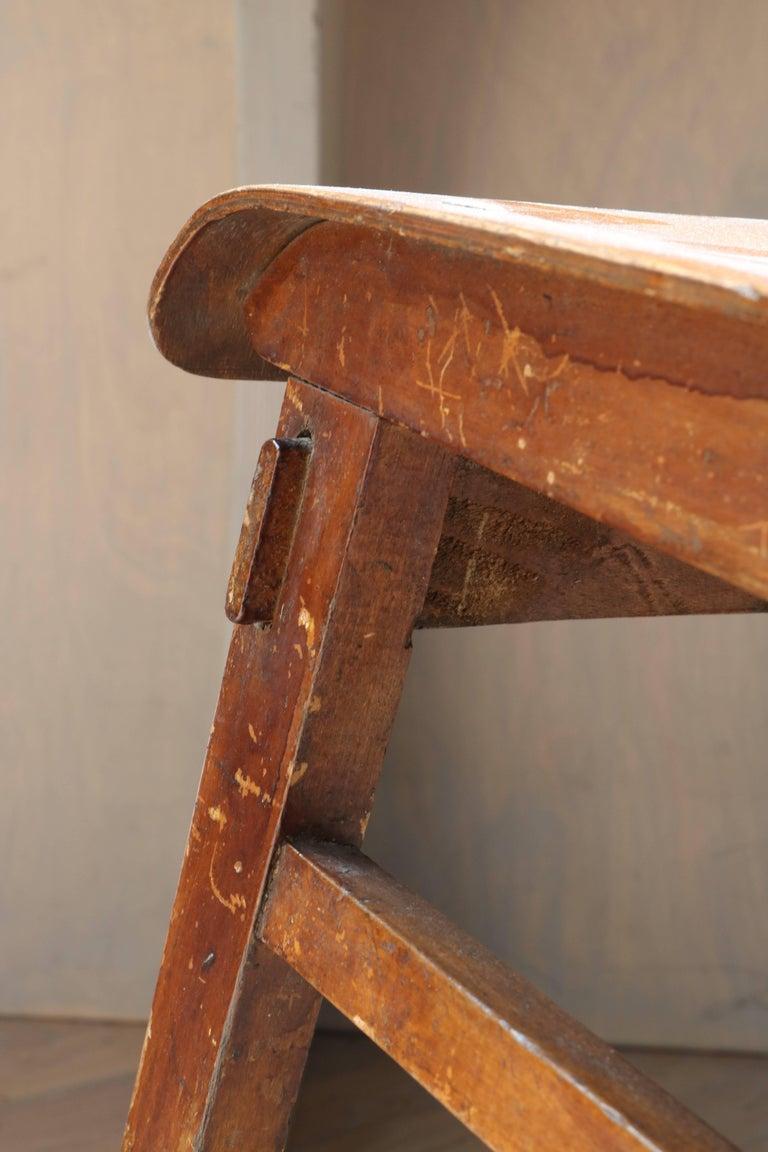 Unique Midcentury Wooden Chair by Jean Prouvé For Sale 7