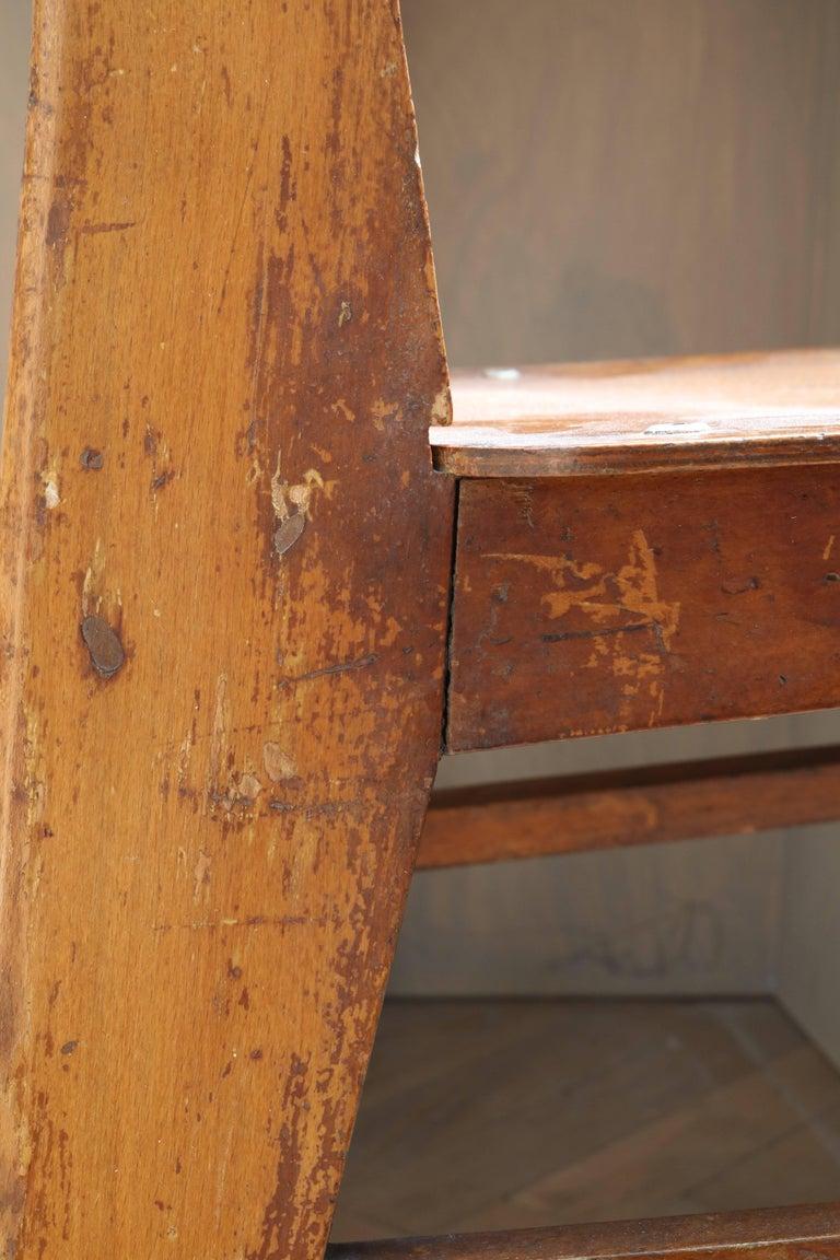 Unique Midcentury Wooden Chair by Jean Prouvé For Sale 5