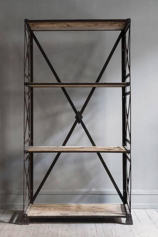 Modern Industrial Bookcase For Sale