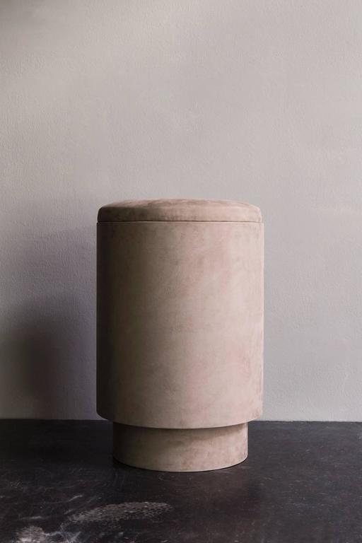Pouf In Nubuck From Micha 235 L Verheyden At 1stdibs