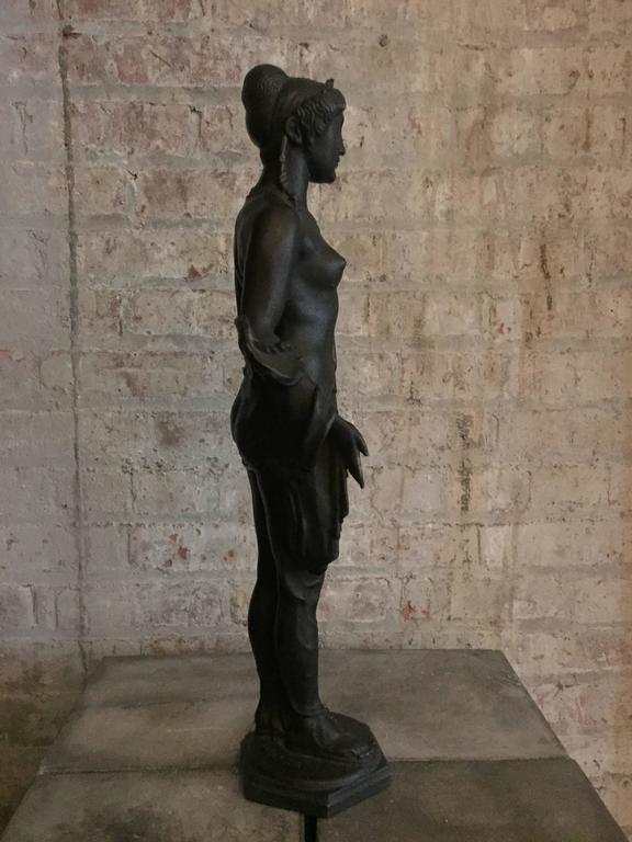 Modern Bronze Statuette of a Goddess For Sale