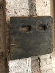 Wooden object from a 'speak-easy' bar in Texas