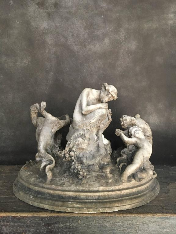 Beautiful Italian Marble Sculpture In Fair Condition For Sale In Copenhagen, DK