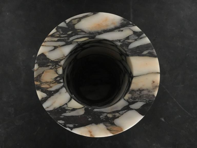 Large Cylindrical Unique Marble Vase from Michaël Verheyden 3