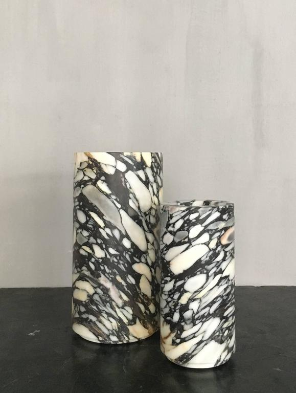 Large Cylindrical Unique Marble Vase from Michaël Verheyden 4