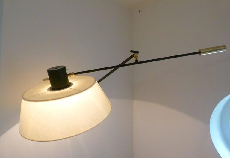 1950s Articulated Sconce by Maison Lunel In Excellent Condition In Saint-Ouen, FR