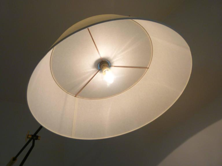 1950s Large Suspended Sconce Mounted on Patella by Maison Lunel 4