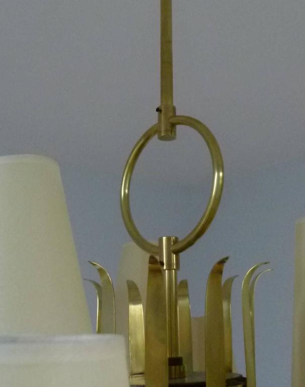 Mid-20th Century 1950s French Chandeliers, circa 1950 For Sale