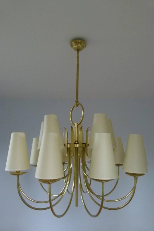 1950s French Chandeliers, circa 1950 For Sale 1