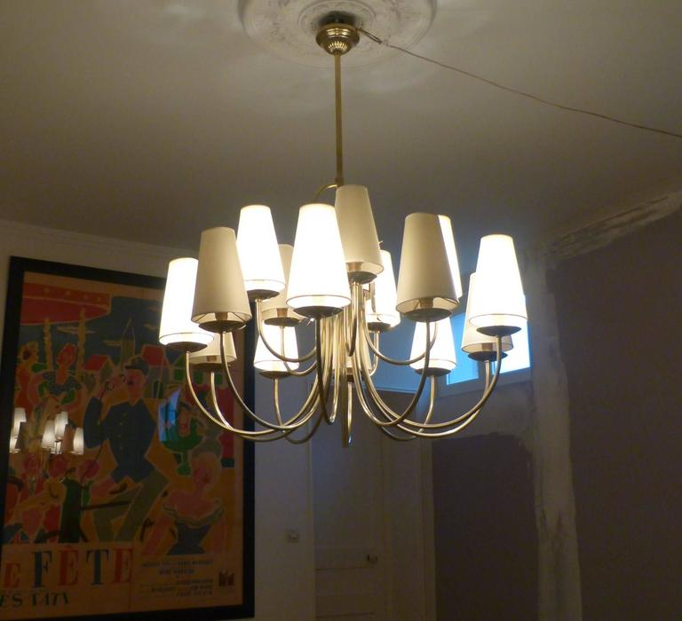 1950s French Chandeliers, circa 1950 3