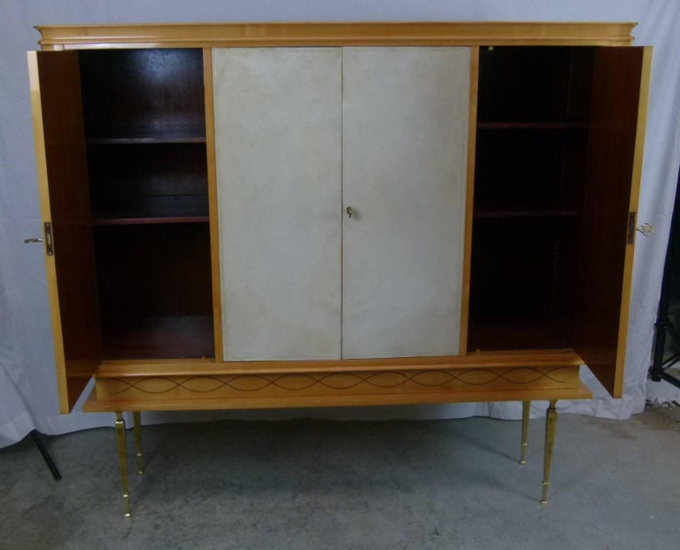 20th Century Bar Cabinet in Sycomore For Sale