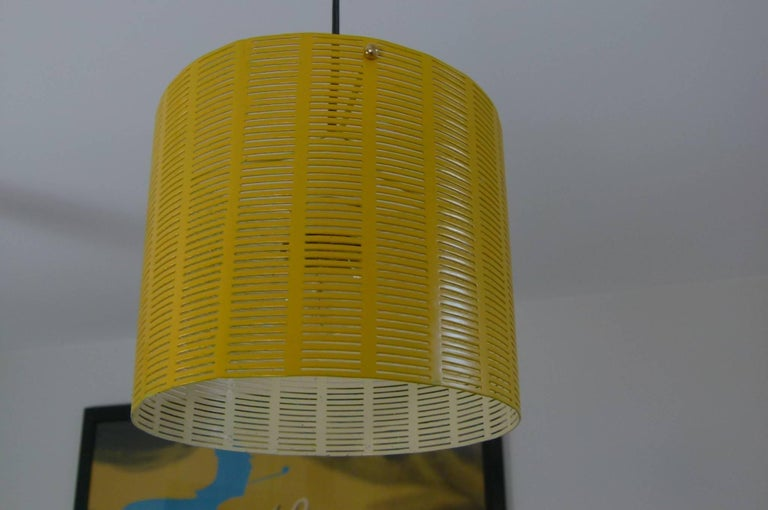 Mobile Italian 1950s Asymmetrical Metal Chandelier with Colored Lampshades 6