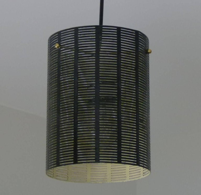 Mobile Italian 1950s Asymmetrical Metal Chandelier with Colored Lampshades 7