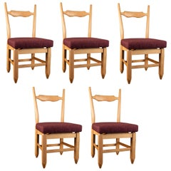 Set of Six Chairs by Guillerme et Chambron