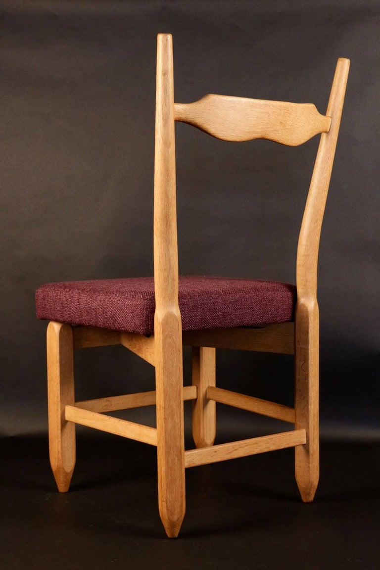 French Set of Eight Chairs by Guillerme et Chambron For Sale