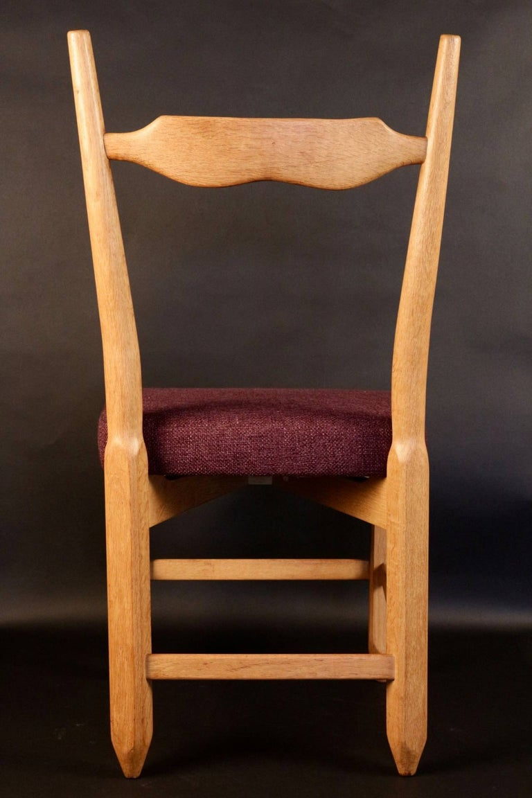 Set of Eight Chairs by Guillerme et Chambron In Excellent Condition For Sale In Saint-Ouen, FR
