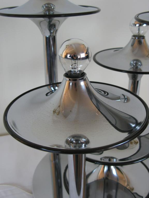 "Five Lights Table Lamp ""Socer"" Italy 1960s Attributed to Stilnovo 4"