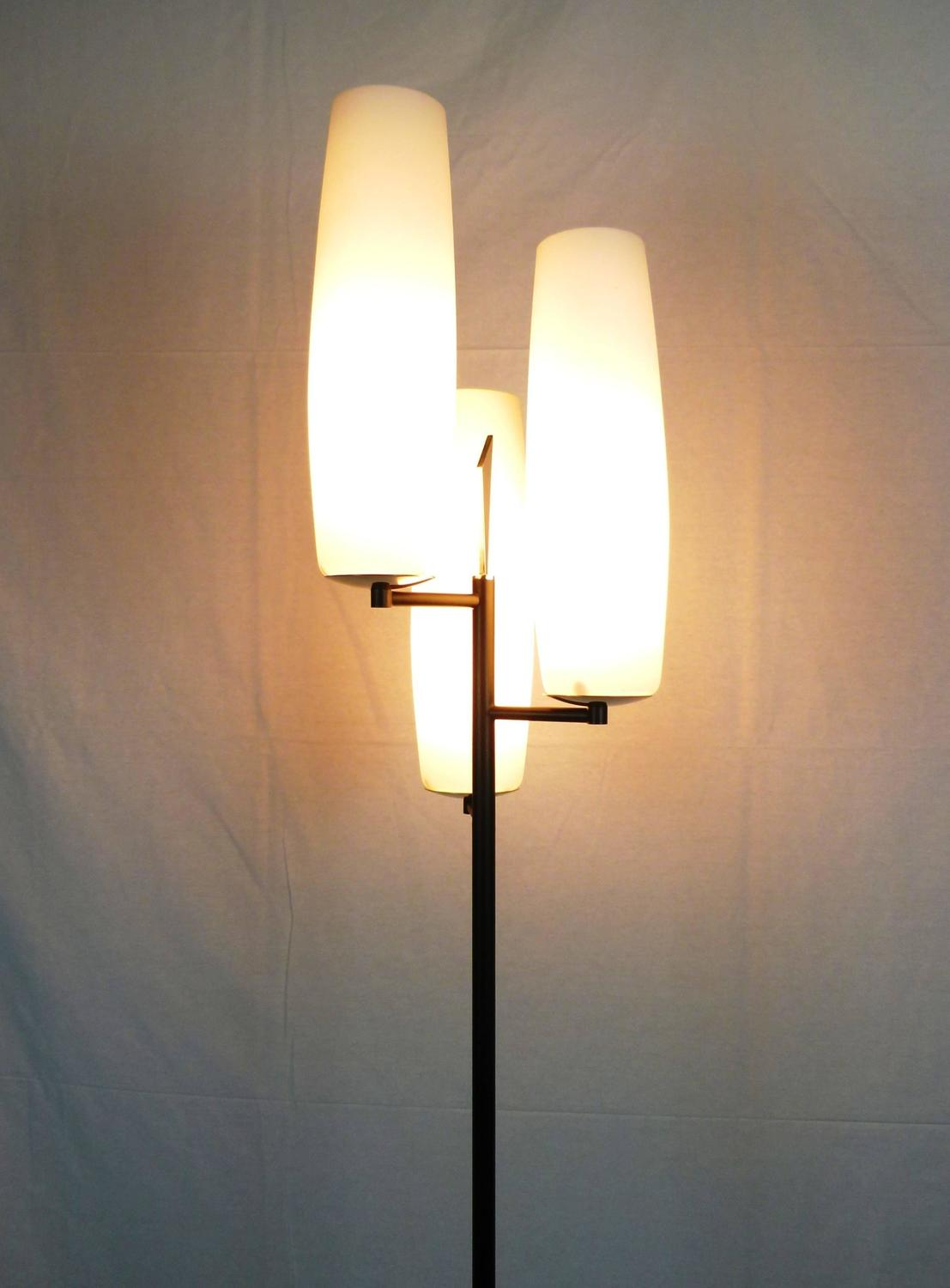 Triple Lighting 1950s Floor Lamp By Maison Lunel For Sale