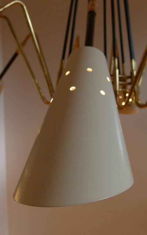 1950s Ten Lights Italian Chandelier 8