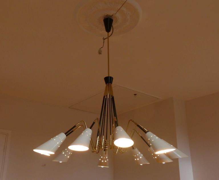 1950s Ten Lights Italian Chandelier 3