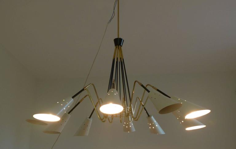 1950s Ten Lights Italian Chandelier 2