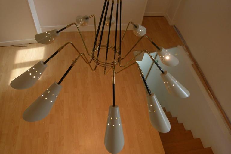 1950s Ten Lights Italian Chandelier 5