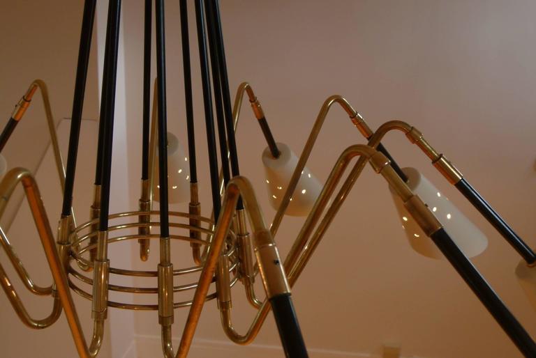 1950s Ten Lights Italian Chandelier 6