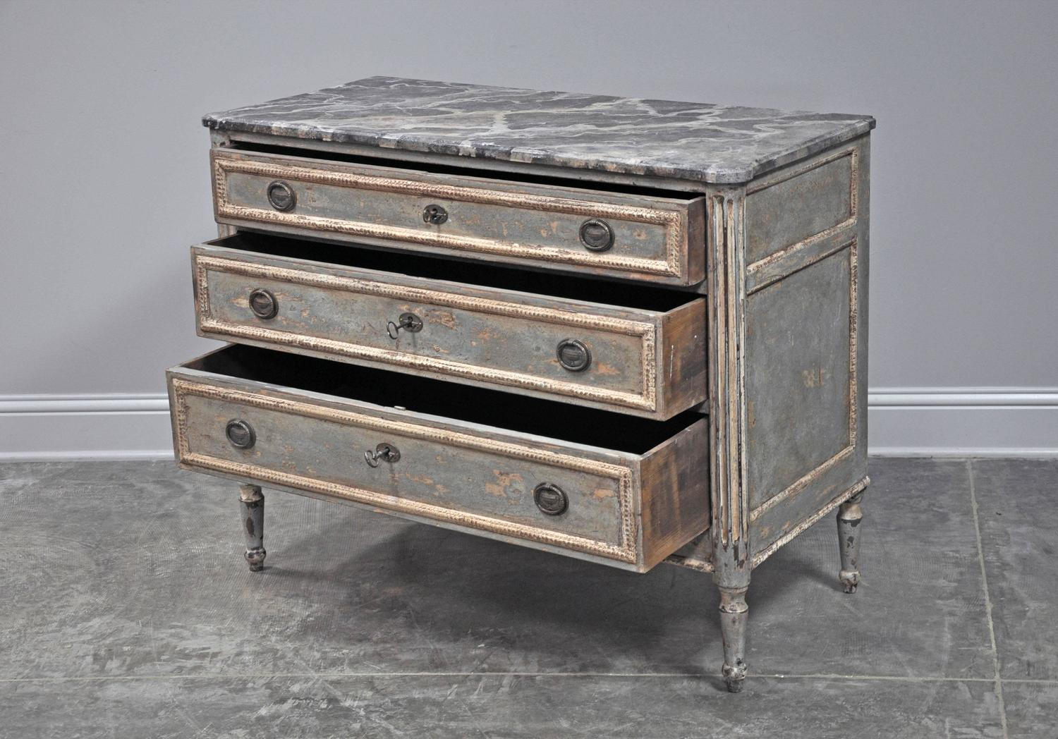 cabinet magazine painted louis xvi style commode for at 1stdibs 12962
