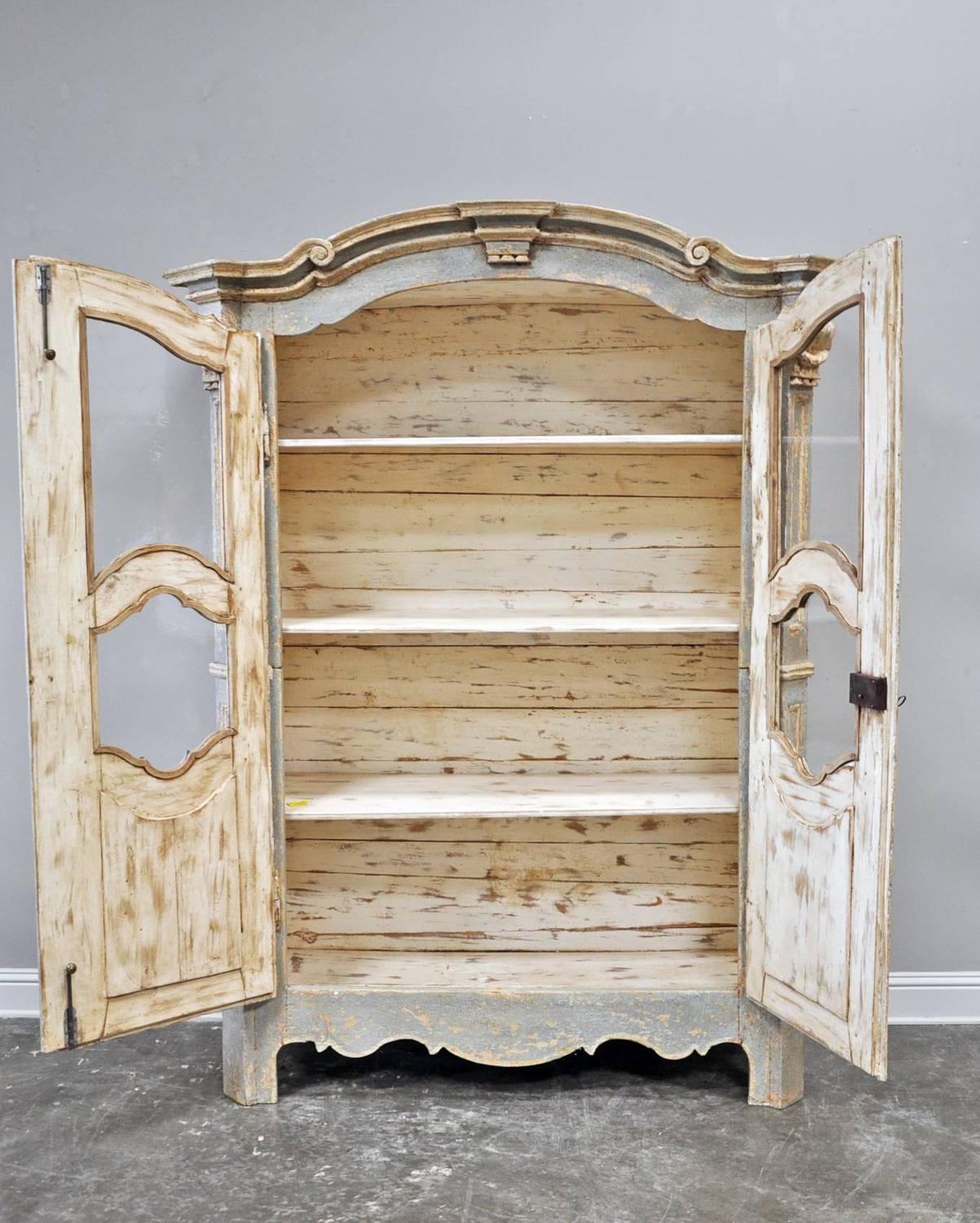 cabinet magazine painted italian armoire or vitrine at 1stdibs 12962
