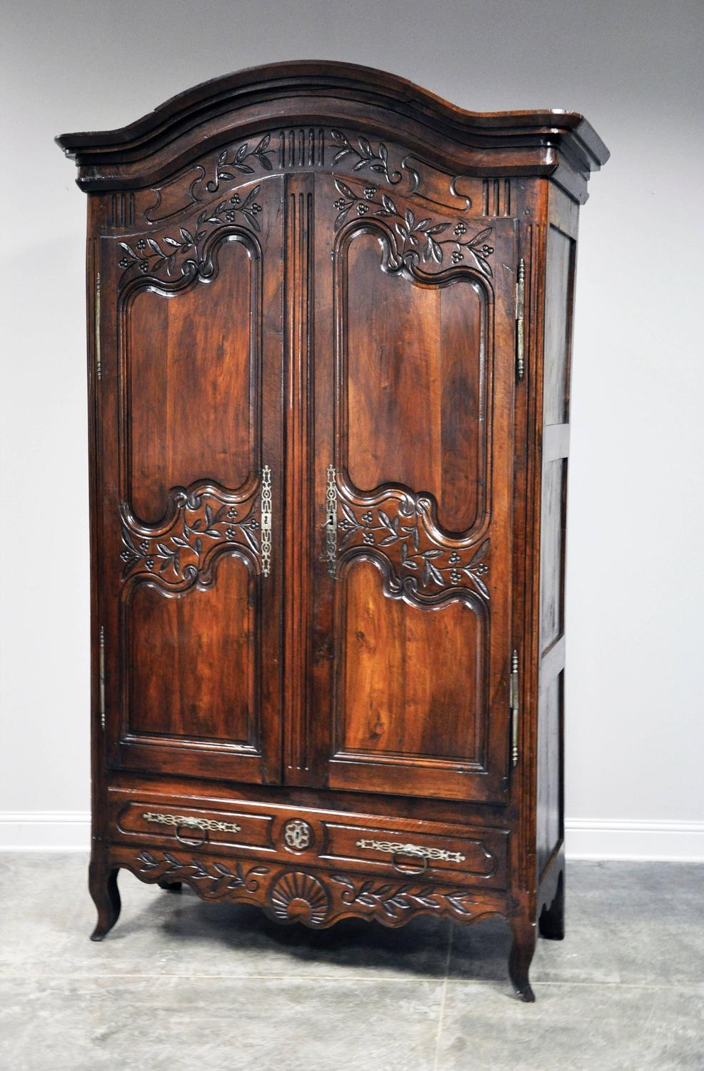 cabinet magazine 19th century provincial louis xv style armoire in walnut 12962