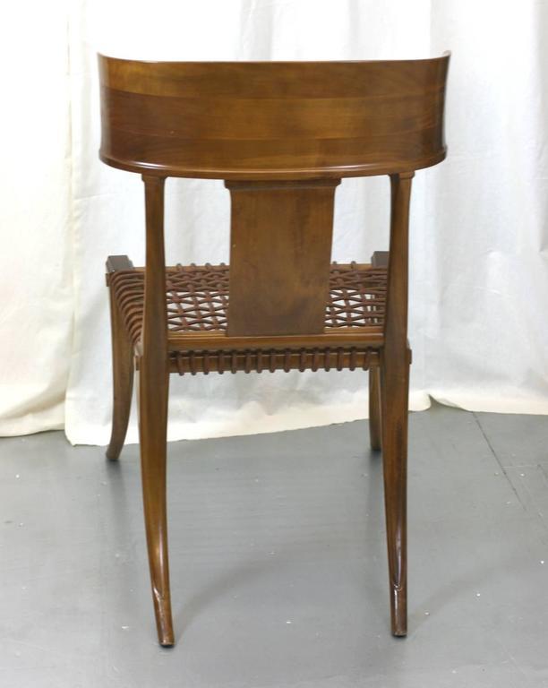Mid-20th Century T.H. Robsjohn-Gibbings Klismos Chairs by Saridis, Athens For Sale